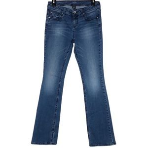 A.N.A. Medium Wash Embroidered Bootcut Jeans